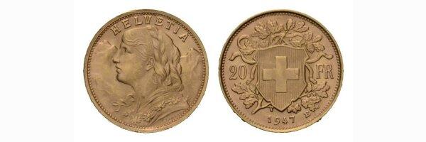 20 Franken Goldvreneli