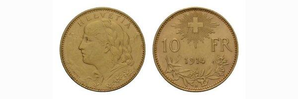 10 Franken Goldvreneli