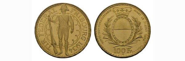 100 Franken Goldmünzen