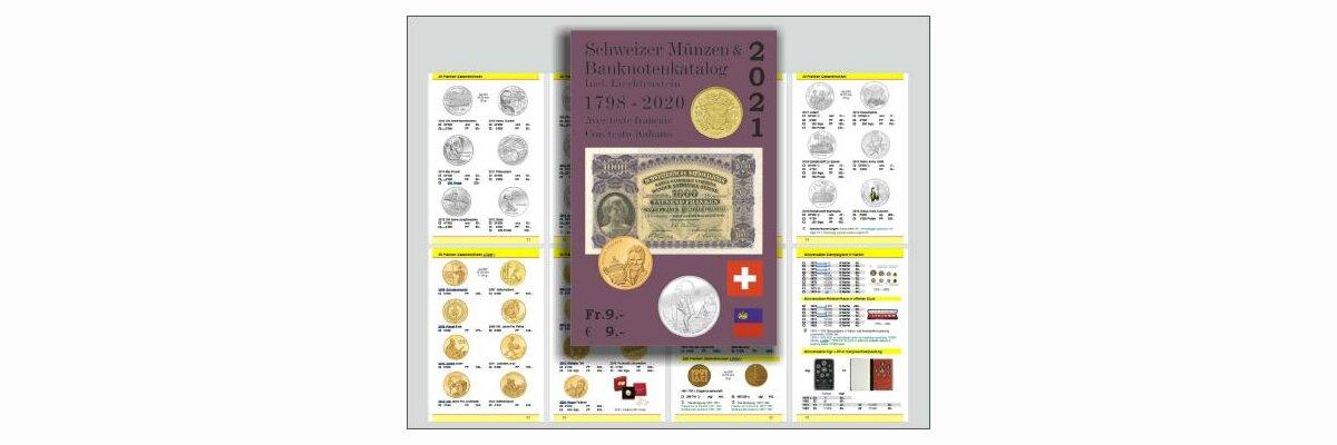 Schweizer Münzen- und Banknotenkatalog 2021 - Schweizer Münzen- und Banknotenkatalog 2021