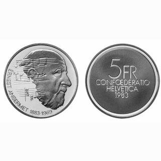 Schweiz 5 Franken 1983 B Ernst Ansermet