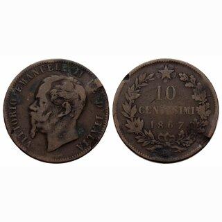 Italien 10 Centesimi 1867