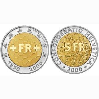 Schweiz 5 Franken 2000 B 150 Jahr Schweizer Franken