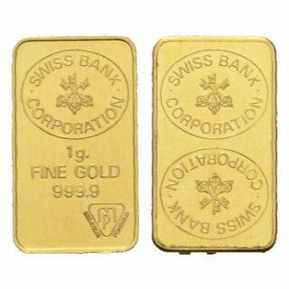 Schweiz 1 Gramm Goldbarren Goldbarren