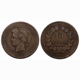 Frankreich 10 Centimes 1891 A