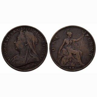 England Penny 1901