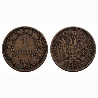 Österreich Kreuzer 1861
