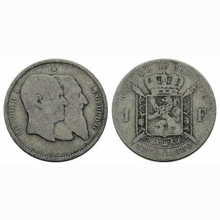 Belgien 1 Francs 1880