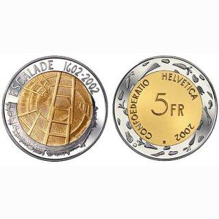 Schweiz 5 Franken 2002 B Escalade Genf