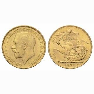 England Sovereign 1912 Geroges V