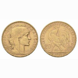 Frankreich 20 Francs 1907 Marianne
