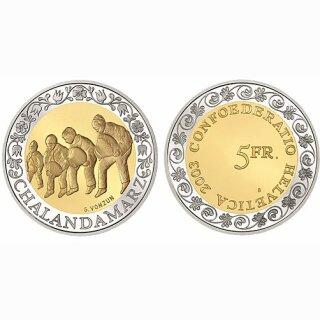Schweiz 5 Franken 2003 B Chalandamarz