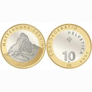 Schweiz 10 Franken 2004 B Matterhorn