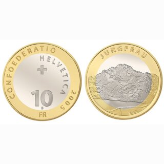 Schweiz 10 Franken 2005 B Jungfrau