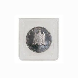 Münzhülle aus glasklarer PVC-Folie bis 46 mm (100 Stück)