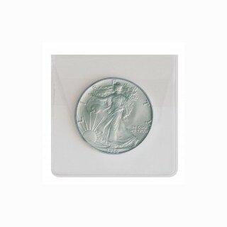 Münzhülle aus glasklarer PVC-Folie bis 60 mm (100 Stück)