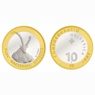 Schweiz 10 Franken 2007 B Steinbock