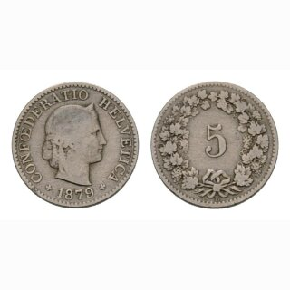 5 Rappen 1879  Schweiz