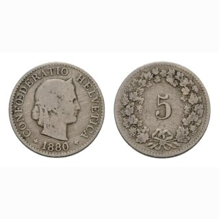 5 Rappen 1880 Schweiz