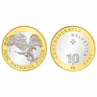 Schweiz 10 Franken 2008 B Steinadler