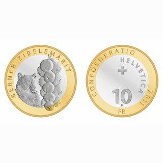 Schweiz 10 Franken 2011 B Berner Zwiebelmärit
