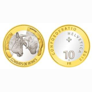 Schweiz 10 Franken 2012 B Ringkuhkämpfe