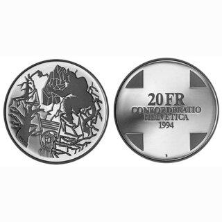 Schweiz 20 Franken 1994 B Teufelsbrücke