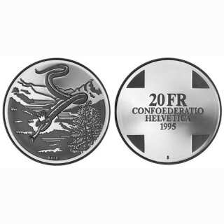 Schweiz 20 Franken 1995 B Schlangenkönigin