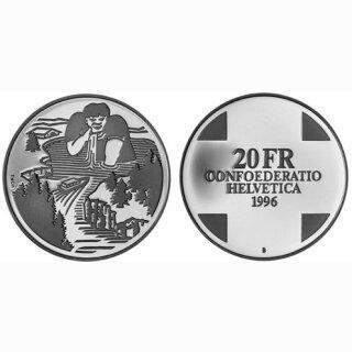 Schweiz 20 Franken 1996 B Riese Gargantua