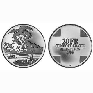 Schweiz 20 Franken 1996 B Drache von Breno