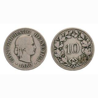 10 Rappen 1880 Schweiz