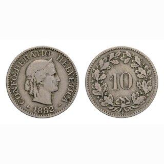 10 Rappen 1882 Schweiz