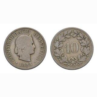 10 Rappen 1883 Schweiz