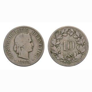 10 Rappen 1884 Schweiz