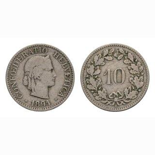 10 Rappen 1894 Schweiz