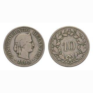 10 Rappen 1895 Schweiz
