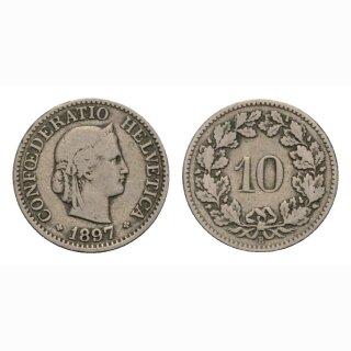 10 Rappen 1897 Schweiz