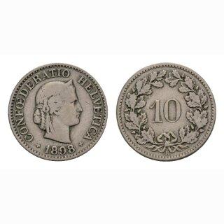 10 Rappen 1898 Schweiz