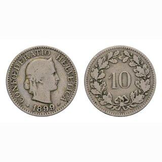 10 Rappen 1899 Schweiz