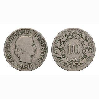 10 Rappen 1900 Schweiz