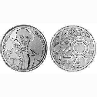 Schweiz 20 Franken 1997 B Jeramias Gotthelf