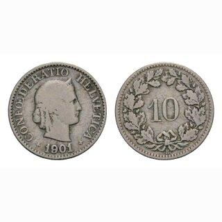10 Rappen 1901 Schweiz