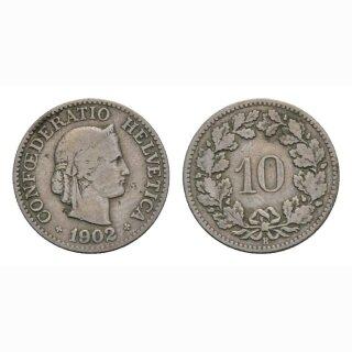 10 Rappen 1902 Schweiz