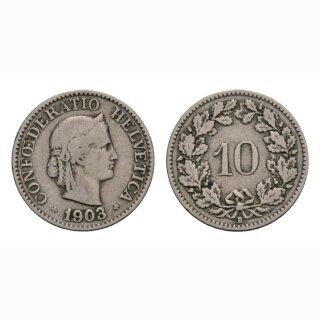 10 Rappen 1903 Schweiz