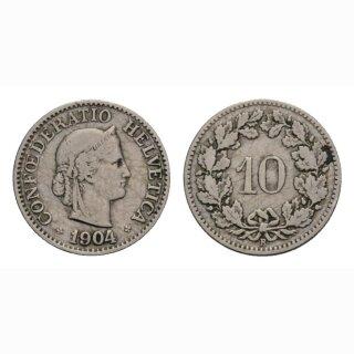 10 Rappen 1904 Schweiz