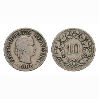 10 Rappen 1906 Schweiz