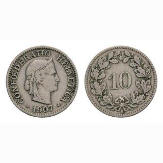 10 Rappen 1907 Schweiz