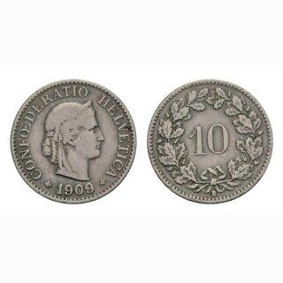 10 Rappen 1909 Schweiz