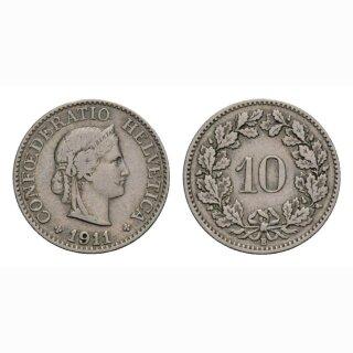 10 Rappen 1911 Schweiz