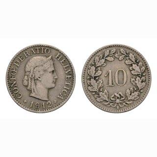 10 Rappen 1912 Schweiz